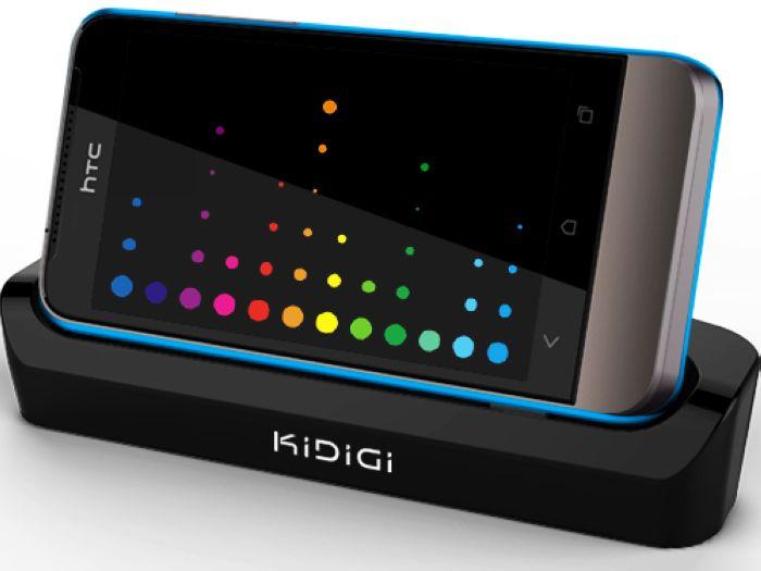 KiDiGi HTC ONE V T320e 多功能傳輸座充 三合一觀賞充電座 / 手機架 (可裝保護殼使用)
