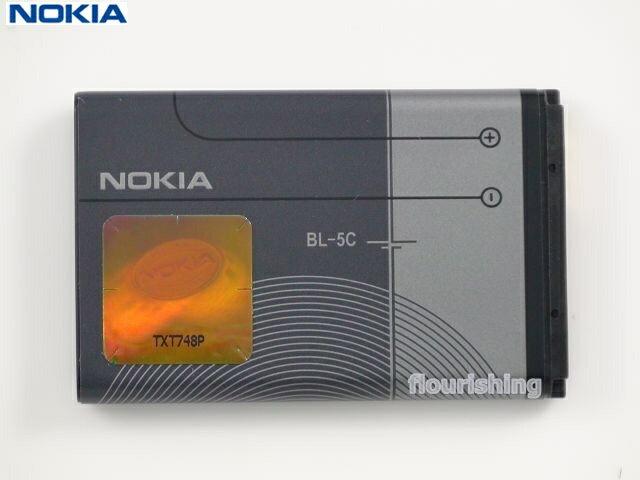 NOKIA 原廠電池【BL-5C】3120/3125/3650/5130XM/2700C/2730C/3100/3105/3109C/3110C/1680