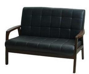 生活大發現-卡特雙人沙發/休閒椅/皮沙發/黑
