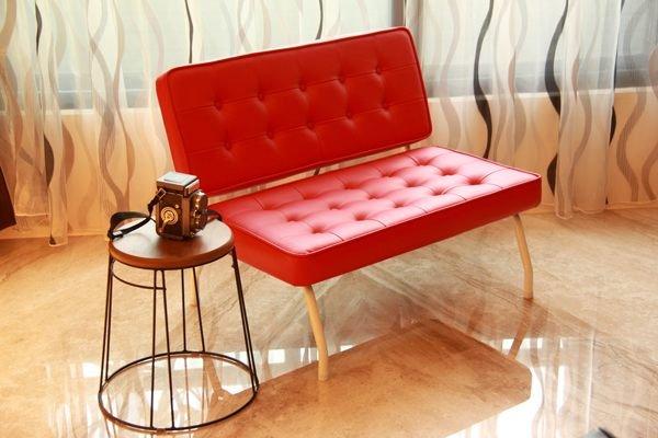生活大發現-MIT DIY傢俱-雙人沙發/皮沙發/沙發椅/紅色