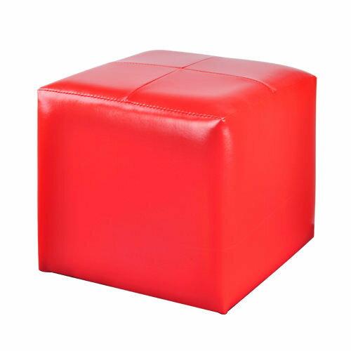 生活大發現-(紅) 亮彩四方椅/沙發/和室椅/腳凳/單人沙發/皮沙發/沙發矮凳/台灣製造/八色可選