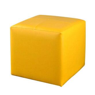 生活大發現-(黃)亮彩四方椅/沙發/單人沙發/和室椅沙發矮凳/腳凳/皮沙發/台灣製造/八色可選