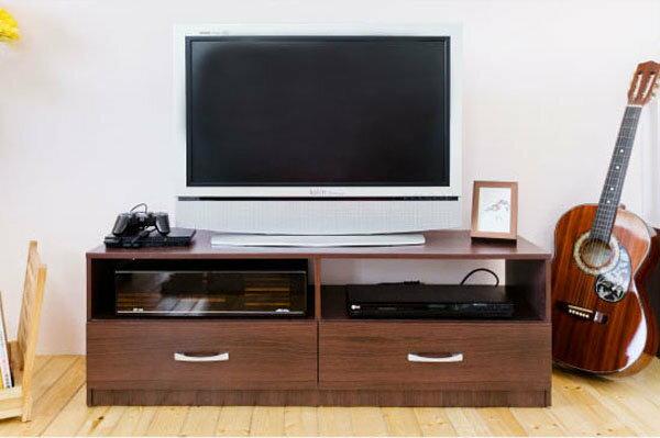 大發現-H-胡桃木色 二抽電視櫃  收納櫃  此為胡桃 區