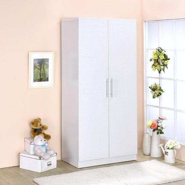 生活大發現-二門衣櫥/衣櫃/衣架/收納櫃/置物櫃/此為白色下標區