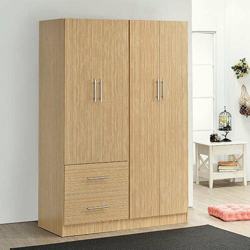 生活大發現-H-白橡木色四門二抽衣櫃/衣櫥/衣架/收納櫃/置物櫃/此為白橡木色下標區