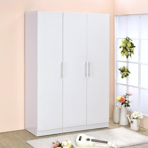 生活大發現-三門衣櫥/衣櫃/衣架/收納櫃/置物櫃/此為雙門+單門優惠組合白色下標區