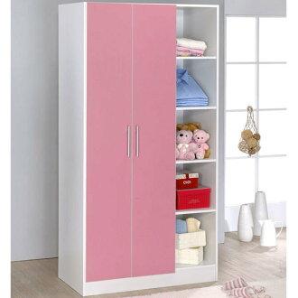 生活大發現-DIY家具-粉紅二門五格衣櫥(此為粉紅配白下標區)/衣櫃/櫥櫃