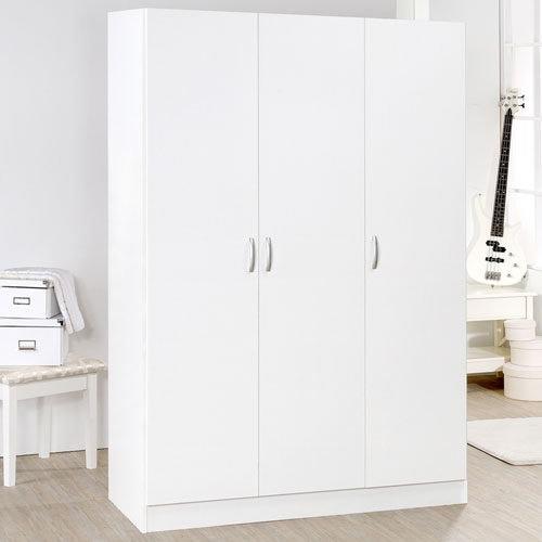生活大發現-DIY家具-時尚白三門衣櫥(此為時尚白下標區)/衣櫃/櫥櫃