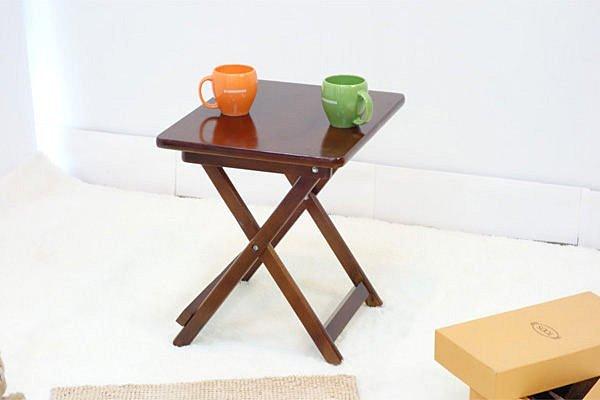 生活大發現-拉爾休閒桌/茶几桌/摺疊桌/書桌/小方桌/此為胡桃下標區