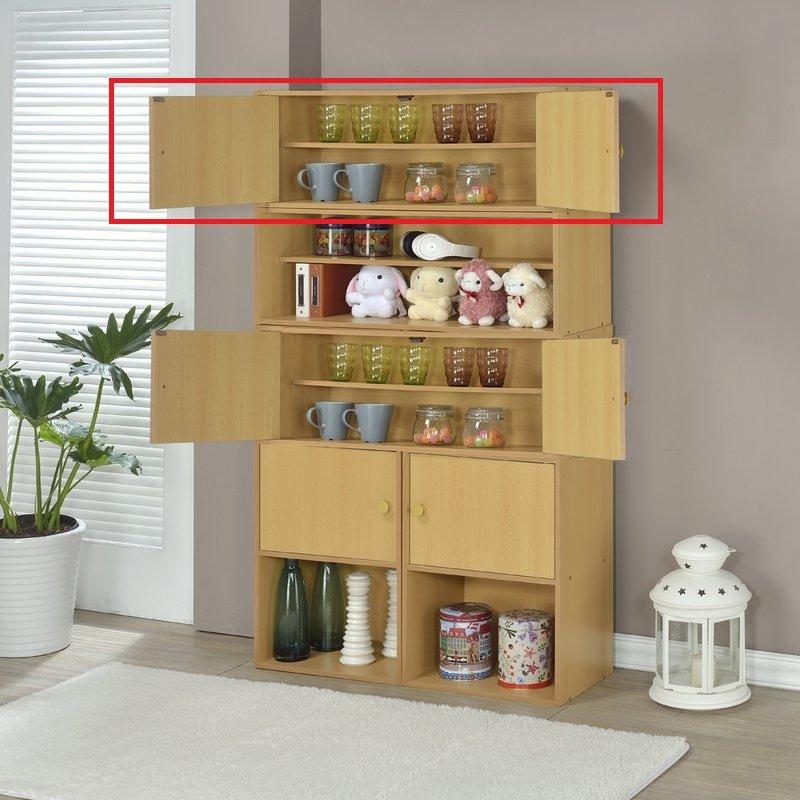 生活大發現-DIY家具-對開雙門收納櫃/書櫃/展示櫃/書架