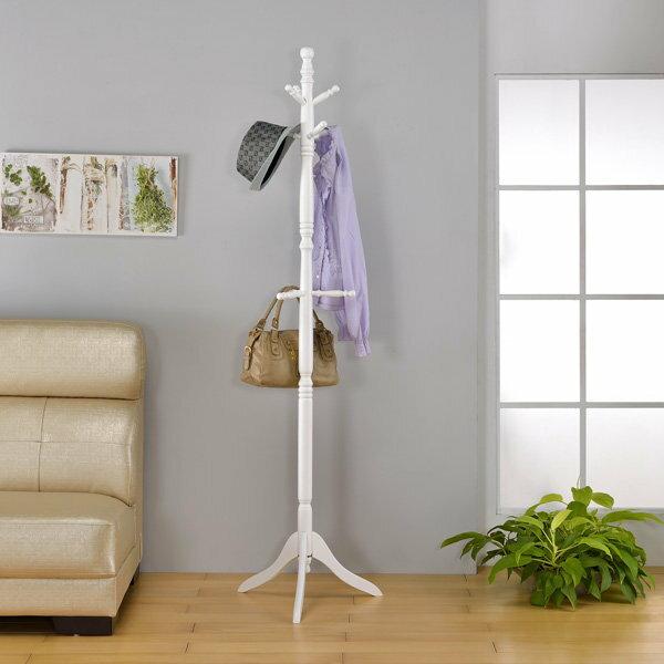 ONE 家具-實木衣帽架/架子/衣架/帽子架/吊衣架/置物架/此為白色下標區