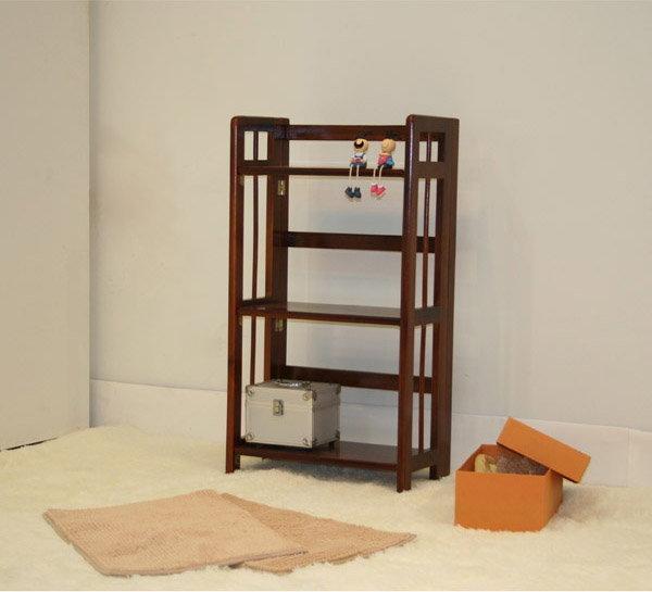 生活大發現-伊爾實木折合書架/雜誌架/桌上型書架/置物架/書櫃/此為胡桃下標區