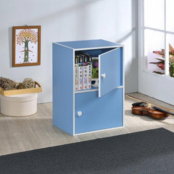 生活大發現-DIY精品-台灣製造/品質保證/粉彩二門櫃/組合櫃/收納櫃/置物櫃/書櫃/書架/高低櫃/展示櫃/此為藍色下標區