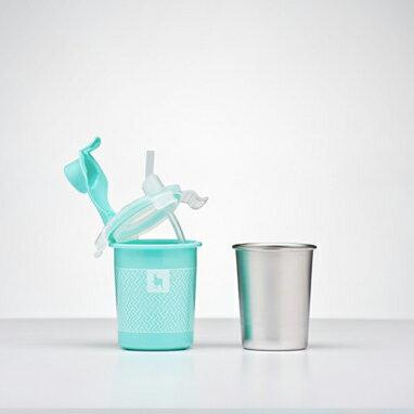 美國【Kangovou】小袋鼠不鏽鋼安全兒童兩用杯-四色 1