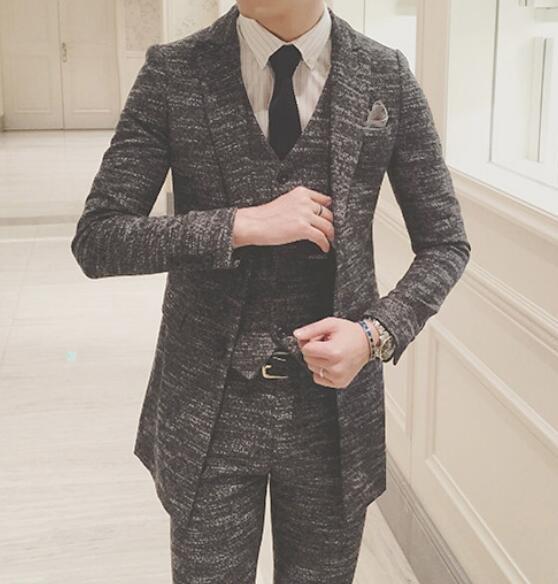 FINDSENSE品牌 韓國男 呢面料 小西裝 修身西裝 西裝外套 單件外套