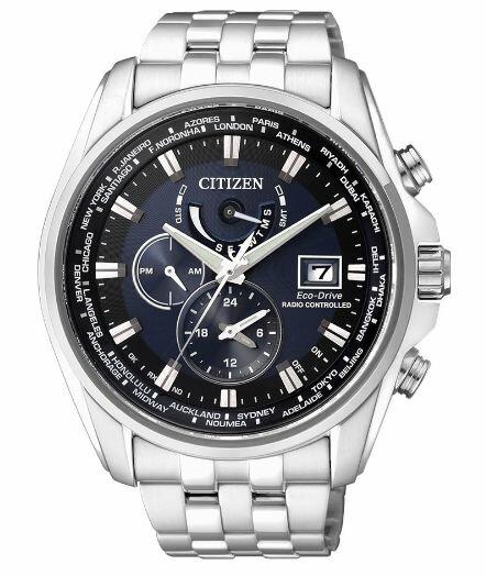 清水鐘錶 CITIZEN 星辰 Eco-Drive 競速賽車電波計時腕錶 藍 AT9031-52L 44mm