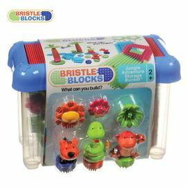 【美國B.Toys感統玩具】-Battat布萊斯特鬃毛積木-系列-叢林冒險(58PCS)/益智遊戲(58pcs)【紫貝殼】