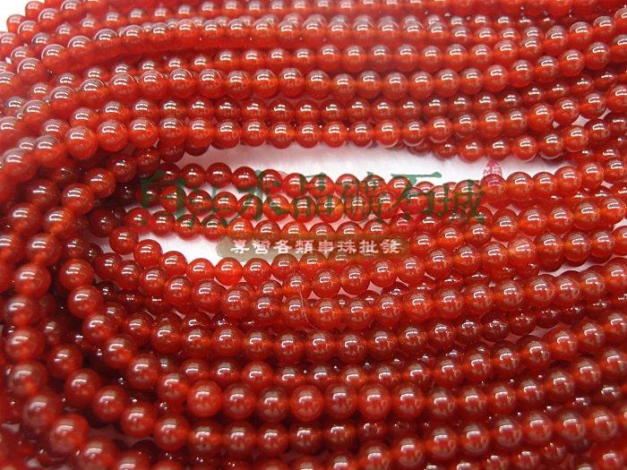 白法水晶礦石城   紅玉髓 紅瑪瑙 6mm 色澤~全紅 特級品 串珠 條珠 首飾材料 ~
