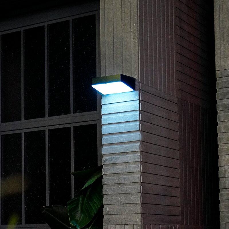 太陽能路燈人體感應LED壁燈戶外防水庭院室外超亮照明小夜燈