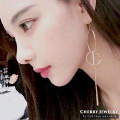 幾何組合圈圈自行耳環【櫻桃飾品】【10423】