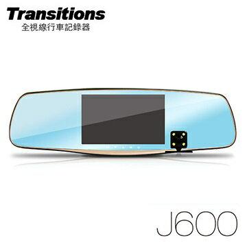 全視線 J600 前後雙鏡頭Full HD 後視鏡型行車記錄器(含16G記憶卡)  / WDR影像處理/10天停車監控