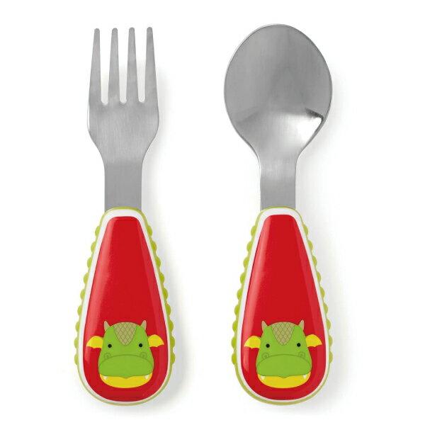 美國SKIP HOP 可愛動物園餐具叉及匙 / 叉匙組 (2款可選) 3
