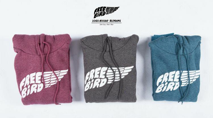 "Free Bird ""Logo"" Hoodie-Blending 內刷毛 帽T 麻花 三色"
