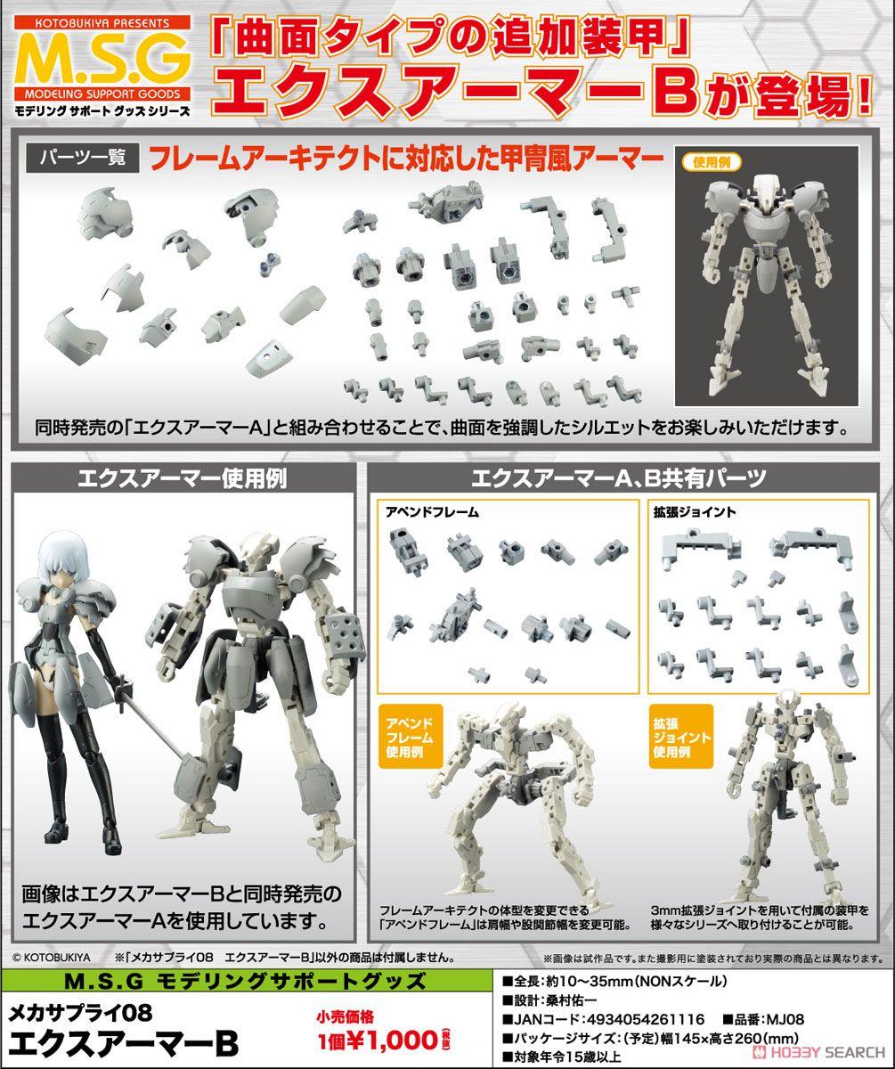 ◆時光殺手玩具館◆ 現貨 組裝模型 代理版 MSG 武裝零件 MJ08 FA 骨裝機兵 機娘 擴充裝甲 Type B