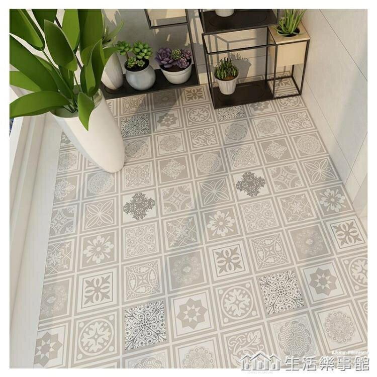 衛生間防水地貼自粘防滑耐磨浴室廁所地面翻新瓷磚裝飾地板磚貼紙 NMS麥田印象