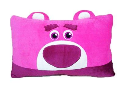 【真愛日本】15121600056 大臉雙人枕-熊抱哥 玩具總動員 熊抱哥 抱枕 靠枕 枕頭 絨毛