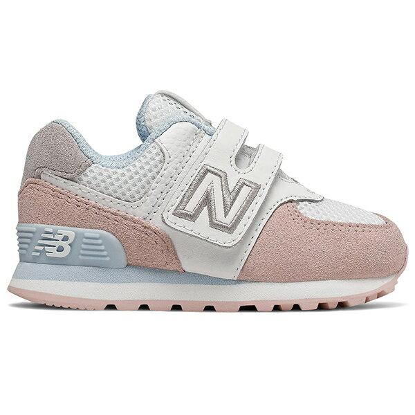 Shoestw【IV574NSE】NEW BALANCE NB574 運動鞋 黏帶 小童鞋 Wide 白粉天藍 0