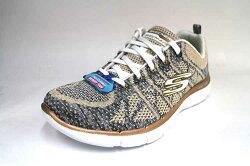 6折零碼出清↘SKECHERS (女) Flex Appeal 2.0 記憶鞋墊 避震 運動鞋 針織鞋面 超柔軟- 12617WGD 金屬棕 [陽光樂活]