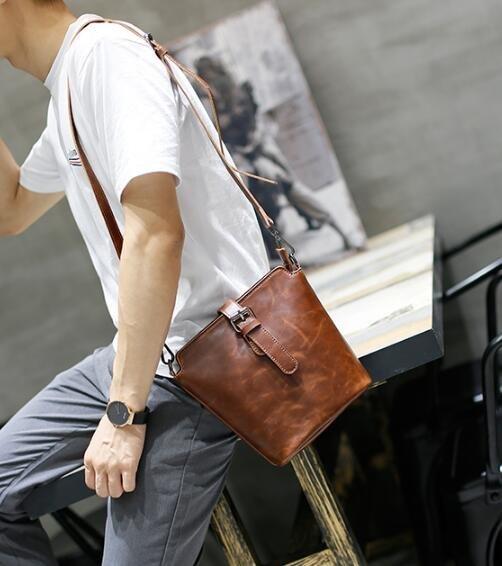 FINDSENSE Z1 韓國 時尚 潮 男 休閒 方包 單肩包 手機包 斜挎包 斜背包 側背包