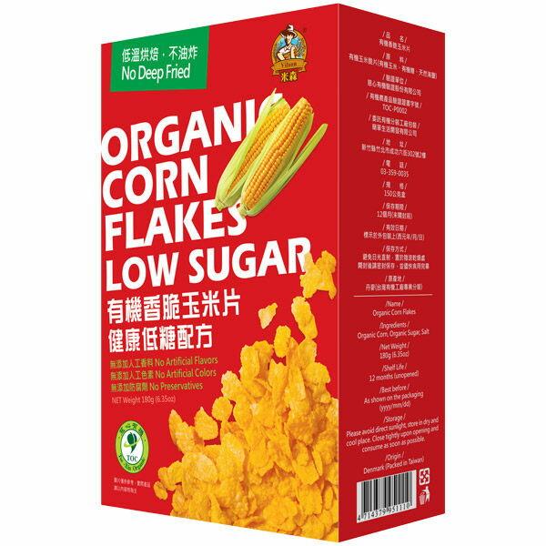青荷 米森 有機香脆玉米片 180g/盒