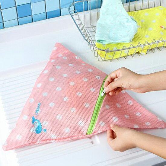 Mycolor:♚MYCOLOR♚刺繡圖案三角洗衣袋拉鍊網袋晾曬護洗內衣內褲毛衣分類清潔【Y51】