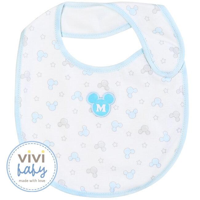 ViViBaby - Disney迪士尼米奇圖騰圍兜 (藍) 2