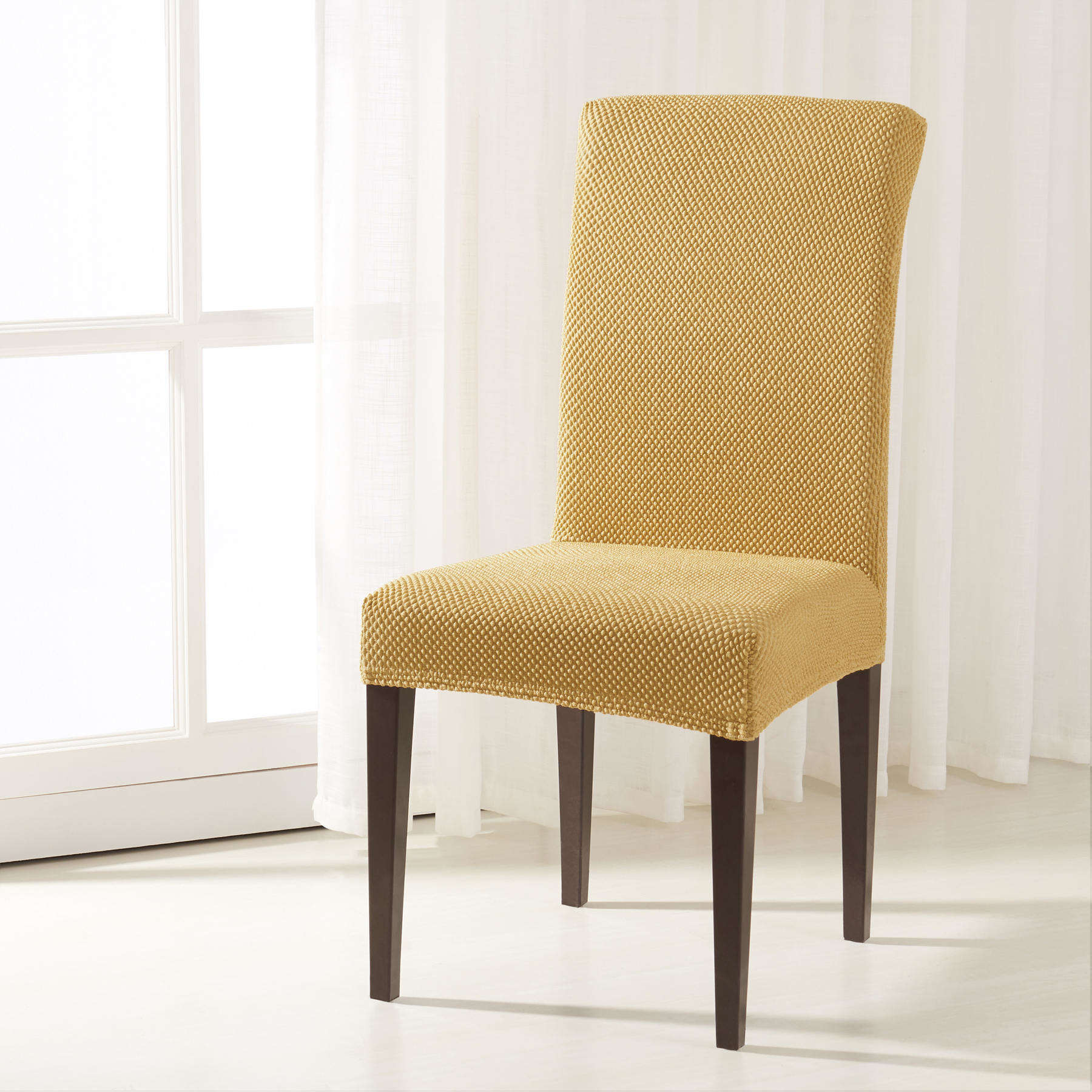 Subrtex Raised Dots Stretch Dining Room Chair Covers 0