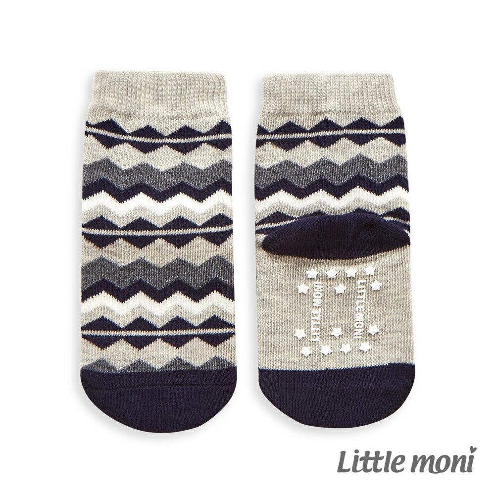 Little Moni 北歐幾何短襪-麻花灰