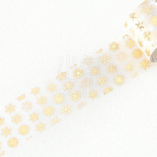 *小徑文化*日本進口Round Top冬季限定箔押款 - Snow Cystals/Gold ( MA-MK-001 )