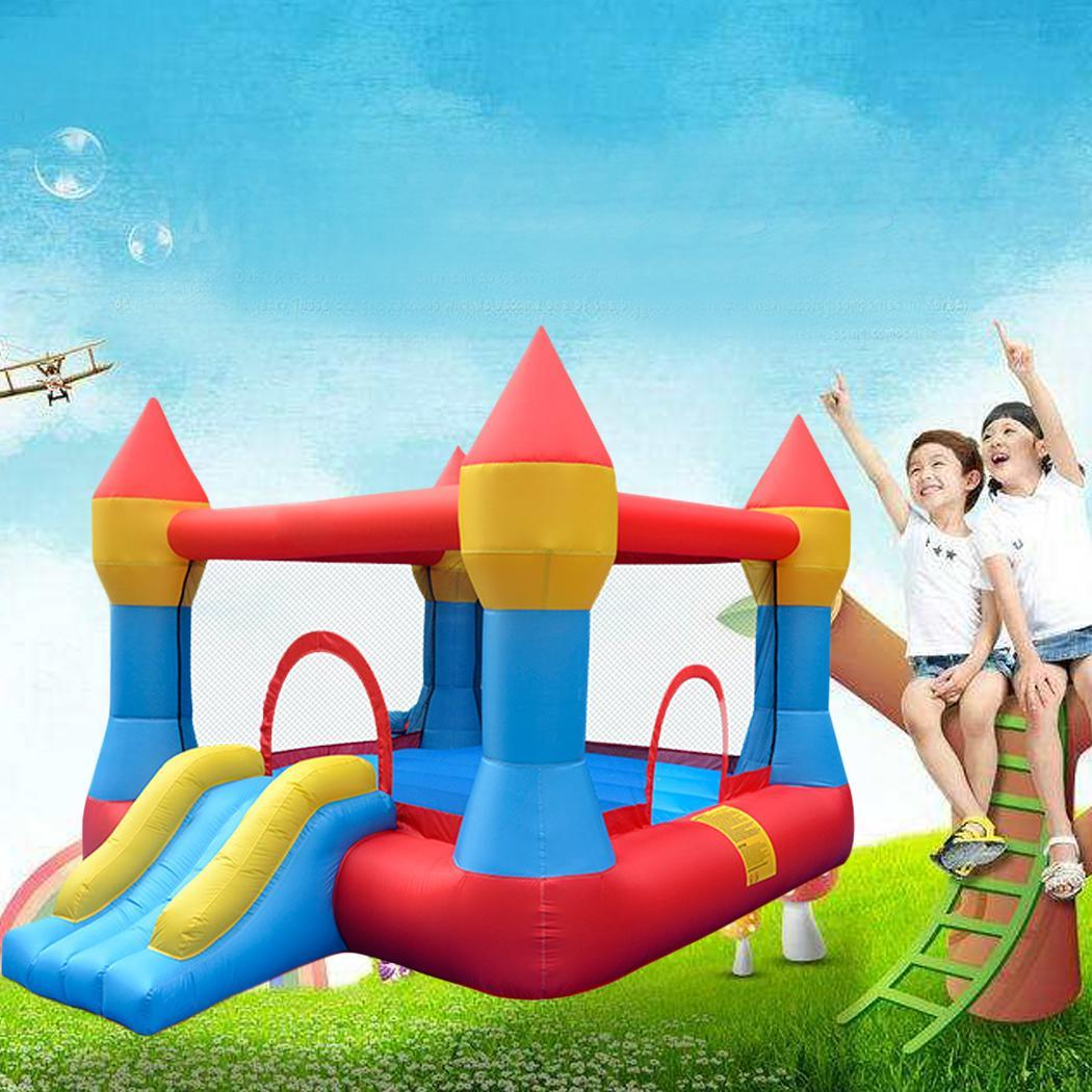 Kids Bounce House Jumper Castle Inflatable Bouncer Without Blower 4
