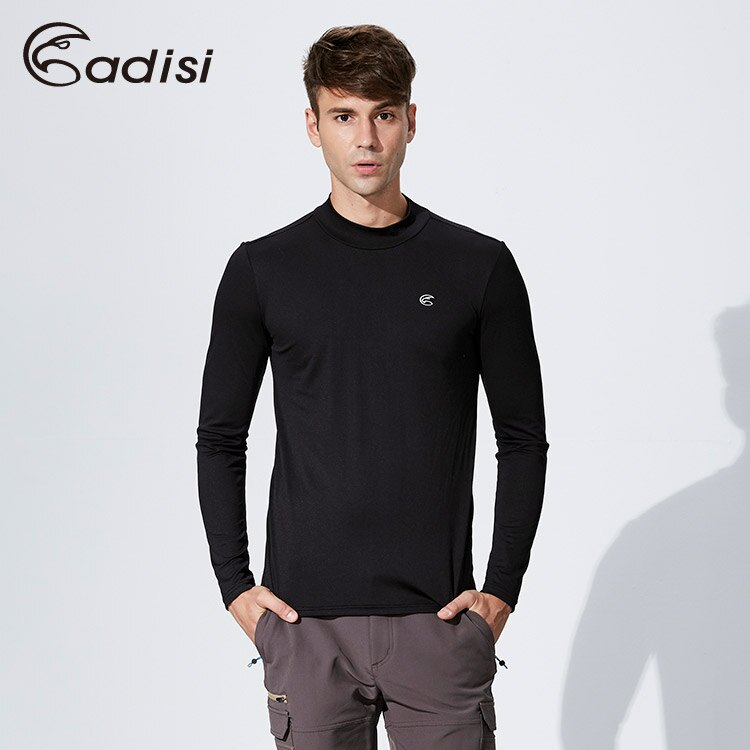 ADISI 男小高領智能纖維保暖衣AL1621115 (S~2XL) / 城市綠洲專賣(吸濕快乾、保暖、輕量環保、內著)