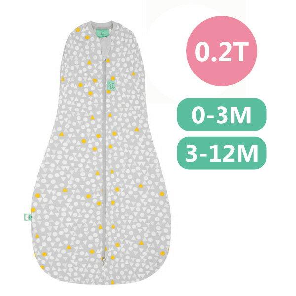 【全品牌任兩件贈三角圍兜】ergoPouch ergoCocoon 二合一有機舒眠包巾0.2T(夏季款)(0-3M/3-12M) 懶人包巾-雪寶灰