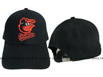 Shoestw【5732008-900】MLB 棒球帽 調整帽 老帽 金鶯隊 黑 凸繡├【1101-1130】單筆訂單滿700折100★結帳輸入序號『loveyou-beauty』┤