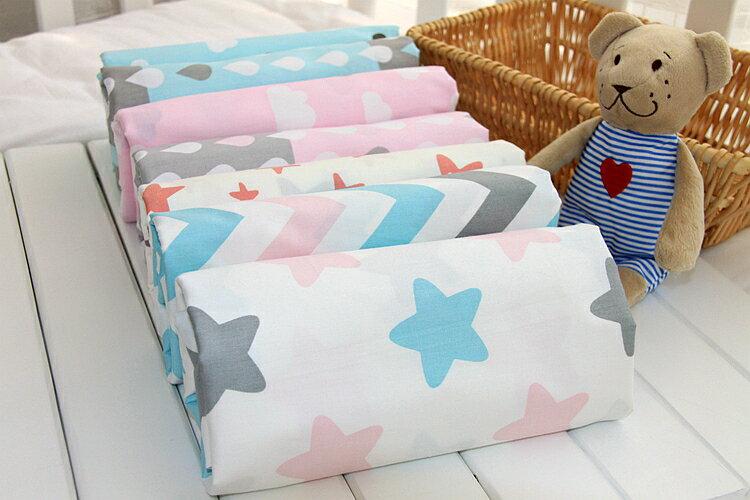 『DoudouMiki』嬰兒純棉床包。嬰兒床單。嬰兒床罩