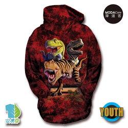 摩達客-預購-美國The Mountain 雷克斯龍群 少年兒童版 連帽T恤