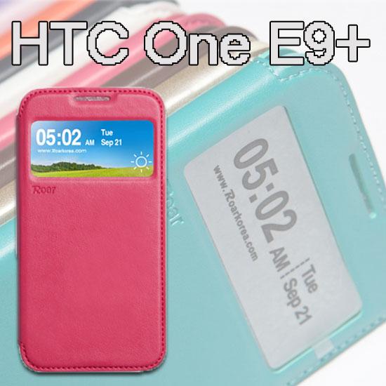 【Roar】HTC One E9+ E9pw/E9+ dual sim/E9 E9x 吸合視窗皮套/書本翻頁式側掀保護套/側開插卡手機套/斜立支架保護殼
