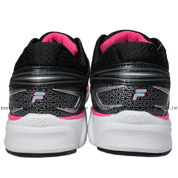 《限時特價799元》 Shoestw【5J589Q965】FILA 輕量慢跑訓練鞋 黑桃紅 女款 2