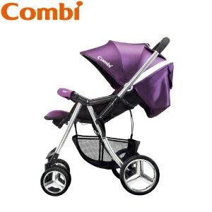 【本月贈$1980磨甲機】日本【Combi】Mega Ride DX 嬰兒手推車-紫(1~48個月) 2
