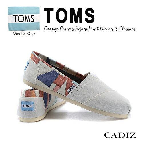 【Cadiz】美國真品正品 TOMS 白色韓國皇室圖騰帆布休閒鞋 [BOJAGI PRINT/ 代購/ 現貨]