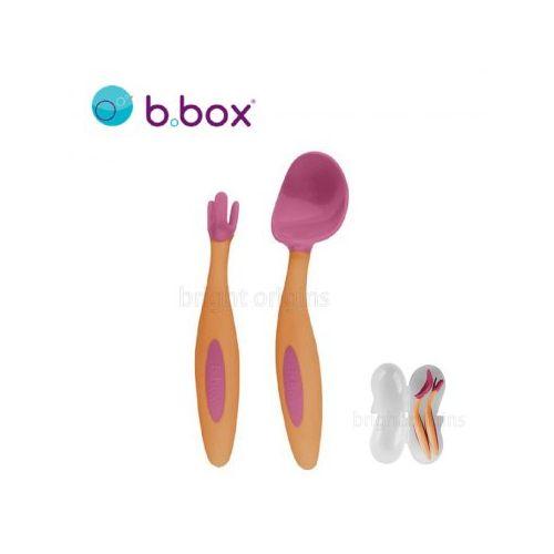 澳洲b.box專利湯匙叉子組(草莓粉)#7216★衛立兒生活館★